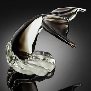 Gray Whale Tail Art Glass
