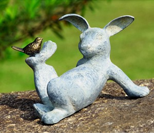 Playful Rabbit Garden Sculpture