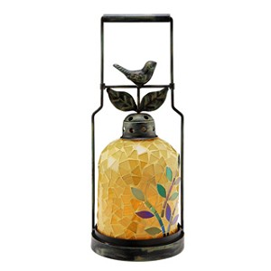 Bird Yellow Mosaic Lantern