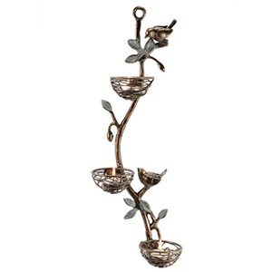 Bird And Nest Wall Tealight Candle Holder