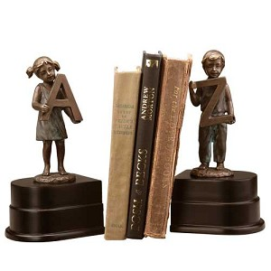Boy and Girl A to Z Bookends