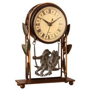 Romancing Frogs Clock