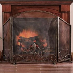 Fleur de Lis Fireplace Screen-Fleur de Lis Fireplace Screen This item is on back order until March 2012. Fleur de Lis Fireplace Screen adds style to your fire place or mantle. Product Dimensions: 59 inches W x 7 inches D x 36.5 inches H 95% of our or
