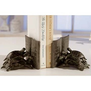 Reading Turtle Bookends