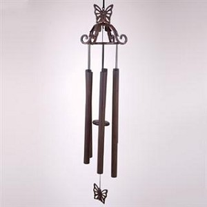 Scroll Wind Chime With Butterfly