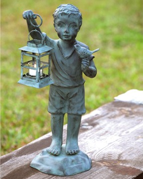 Boy And Bird Lantern
