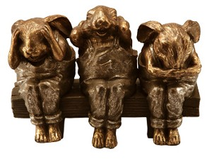 See Hear Speak No Evil Bunnies