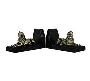 Egyptian Sphinx Bookends - Set Of Two