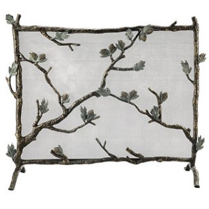 Pinecone Mesh Fireplace Screen