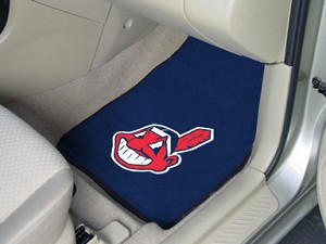 Cleveland Indians Universal Carpet Car Floor Mat, Set Of 2