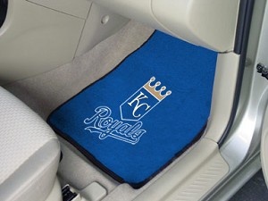 Kansas City Royals Universal Carpet Car Floor Mat, Set Of 2