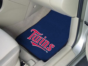 Minnesota Twins Universal Carpet Car Floor Mat, Set Of 2