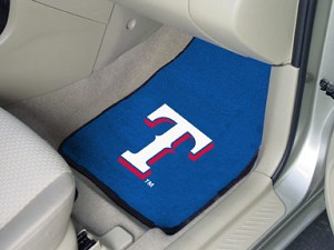 Texas Rangers Universal Carpet Car Floor Mat, Set Of 2