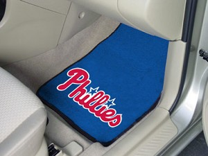 Philadelphia Phillies Universal Carpet Car Floor Mat, Set Of 2