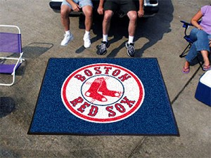 Large Boston Red Sox Logo Area Rug