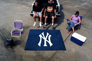 Large New York Yankees Logo Area Rug