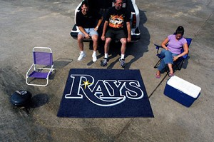 Large Tampa Bay Rays Logo Area Rug