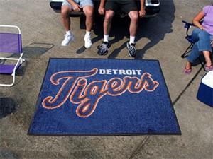 Large Detroit Tigers Logo Area Rug