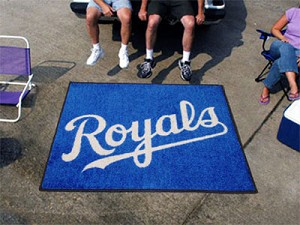 Large Kansas City Royals Logo Area Rug