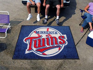 Large Minnesota Twins Logo Area Rug