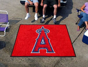 Large Los Angeles Angels Logo Area Rug