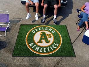 Large Oakland Athletics Logo Area Rug