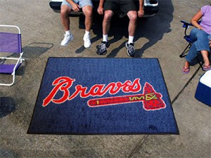 Large Atlanta Braves Logo Area Rug