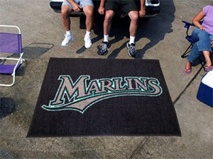 Large Florida Marlins Logo Area Rug