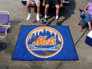 Large New York Mets Logo Area Rug