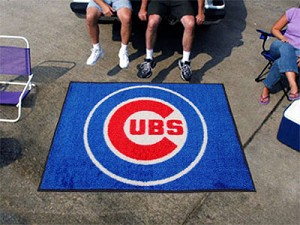 Large Chicago Cubs Logo Area Rug