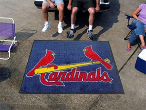 Large St. Louis Cardinals Logo Area Rug