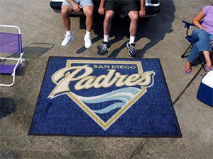 Large San Diego Padres Logo Area Rug