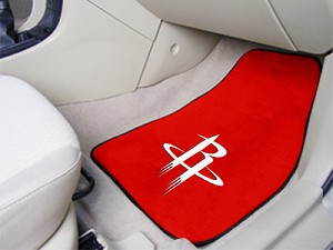Houston Rockets Universal Carpet Car Floor Mat, Set Of 2