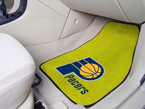 Indiana Pacers Universal Carpet Car Floor Mat, Set Of 2