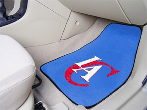 Los Angeles Clippers Universal Carpet Car Floor Mat, Set Of 2
