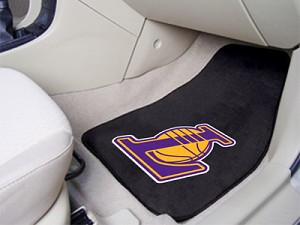 Los Angeles Lakers Universal Carpet Car Floor Mat, Set Of 2