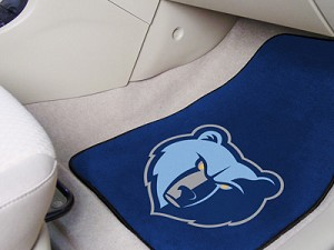 Memphis Grizzlies Universal Carpet Car Floor Mat, Set Of 2