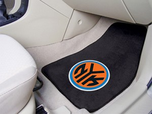 New York Knicks Universal Carpet Car Floor Mat, Set Of 2