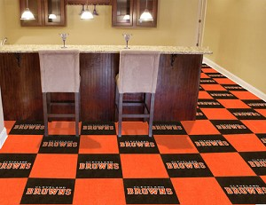 Cleveland Browns Carpet Tiles