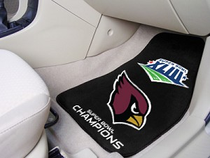 Arizona Cardinals Champions Universal Carpet Car Floor Mat, Set Of 2
