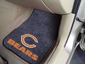 Chicago Bears Universal Carpet Car Floor Mat, Set Of 2