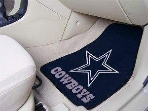 Dallas Cowboys Universal Carpet Car Floor Mat, Set Of 2