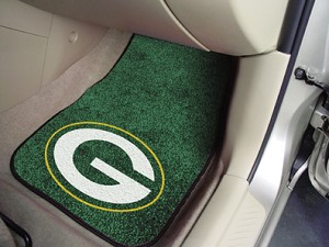Green Bay Packers Universal Carpet Car Floor Mat, Set Of 2