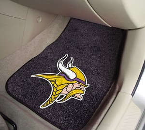 Minnesota Vikings Universal Carpet Car Floor Mat, Set Of 2