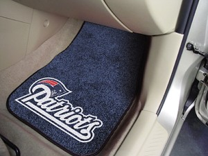 New England Patriots Universal Carpet Car Floor Mat, Set Of 2