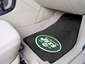 New York Jets Universal Carpet Car Floor Mat, Set Of 2