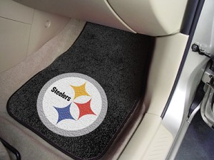 Pittsburgh Steelers Universal Carpet Car Floor Mat, Set Of 2