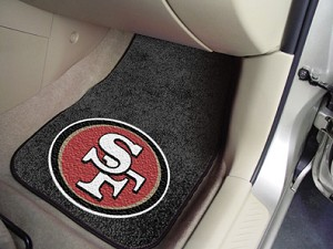 San Francisco 49Ers Universal Carpet Car Floor Mat, Set Of 2