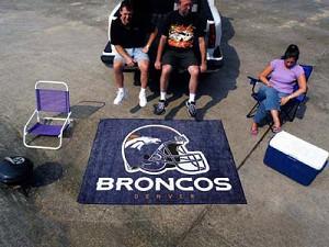 Large Denver Broncos Logo Area Rug