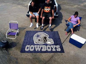 Large Dallas Cowboys Logo Area Rug